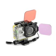 Rot/Magenta Filter set für Action Cam