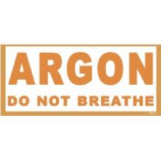 Argon Flaschenaufkleber 8x20cm